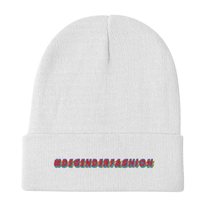 #DEGENDERFASHION Embroidered Beanie