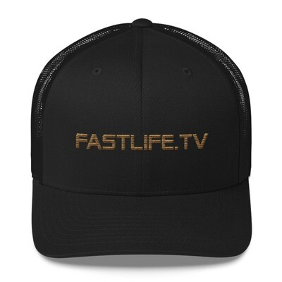 Fastlife Black and Gold Trucker Cap
