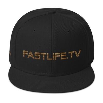 Fastlife Dreamer Black & Gold Snapback Hat