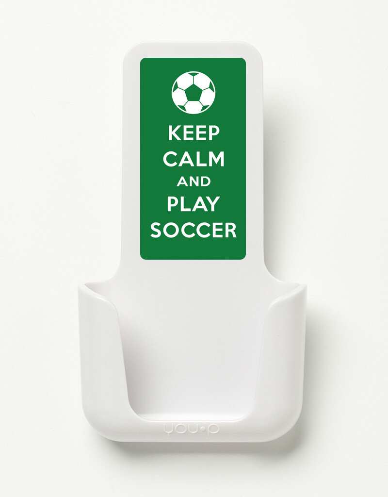 YOU·P | Keep calm, play soccer | Wit, groen