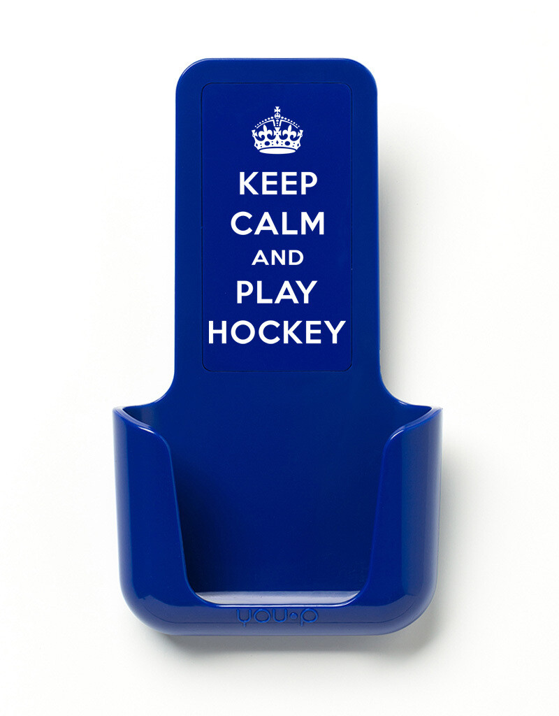 YOU·P | Keep calm, play hockey | Blauw