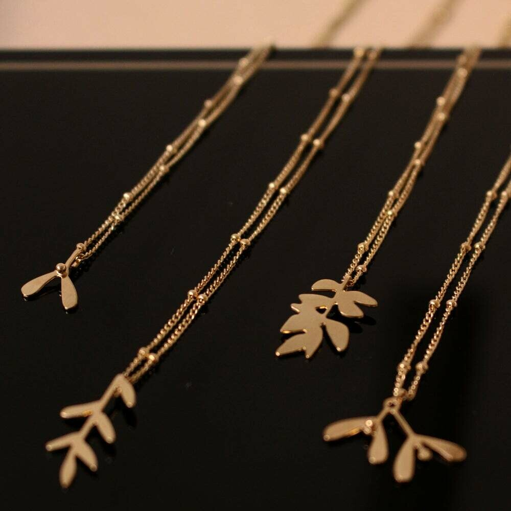 Collier Simple collection VEGETAL modèle FRÊNE 3