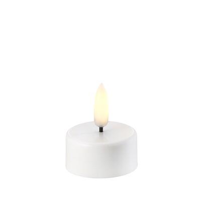 BOUGIE CHAUFFE PLAT LED UYUNI télécommandable 3,8 cm x 4,7 cm col blanc nordique (pile incluse)
