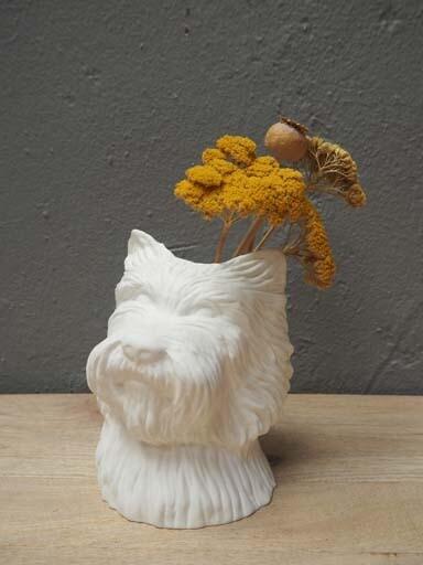 Vase Fox Terrier