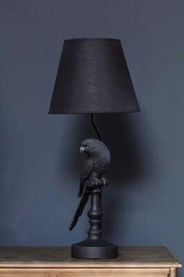 Lampe perroquet avec abat jour
