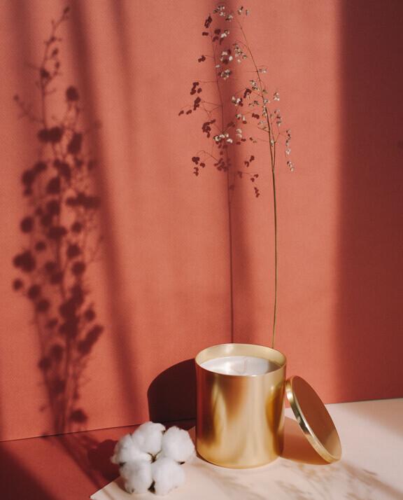 Bougie Fleur de Coton à message