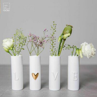 Mini vases LOVE set de 4 RESTOCK MAI