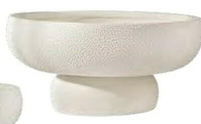 Pot perlé en grès écru size large