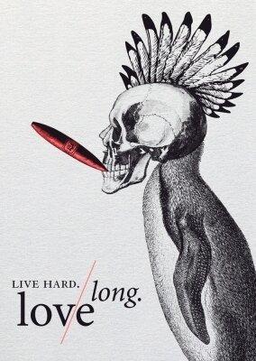 Carte LIVE HARD LOVE LONG