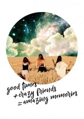 Carte MEMORIES GOOD TIMES+CRAZY FRIENDS
