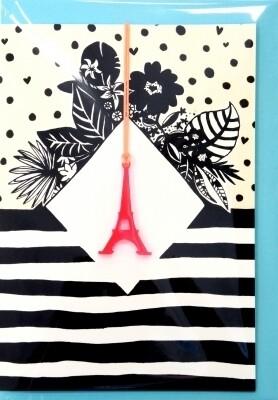 Carte collier PARIS EIFFEL TOWER
