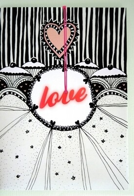 Carte de voeux collier LOVE