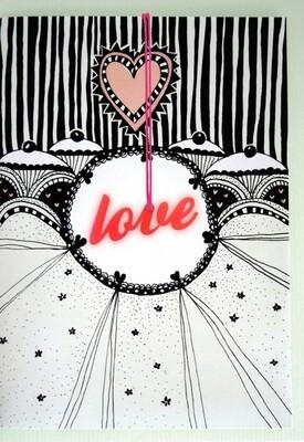Carte de voeux collier LOVE