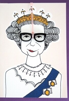 Carte de voeux collier QUEEN ELIZABETH
