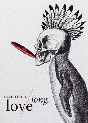 Carte LIVE HARD LOVE LONG