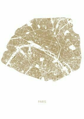Carte PARIS CITY OF LOVE