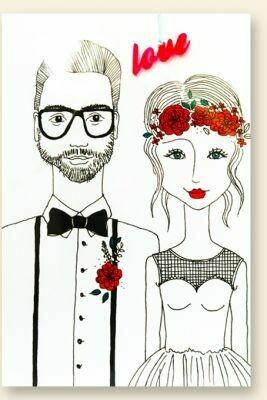 Carte de voeux  collier  MARIAGE ROMANTIQUE