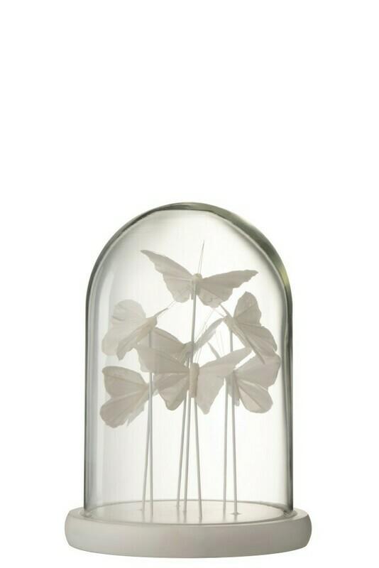 Cloche 7 papillons blancs