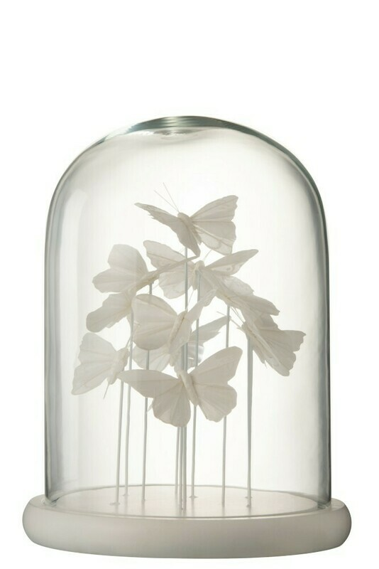 Cloche 11 papillons blancs