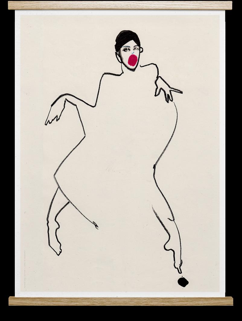 Affiche DANCER By Amelie Hegardt  30X40 cm