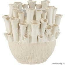 Vase ANEMONE en ceramique beige