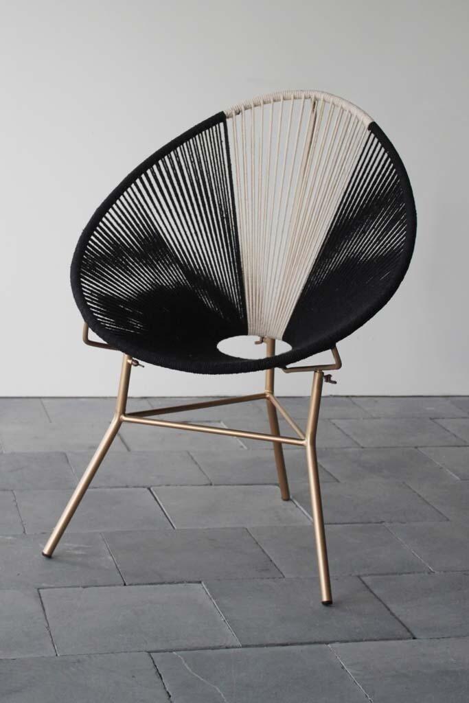 """Chaise """"ACAPULCO"""" corde et métal"""