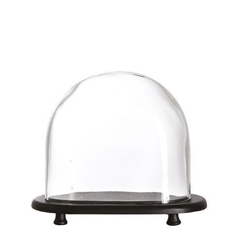 Cloche / Globe sur Socle bois