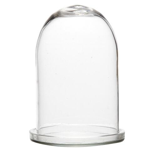 Cloche / Globe sur Socle Verre transparent