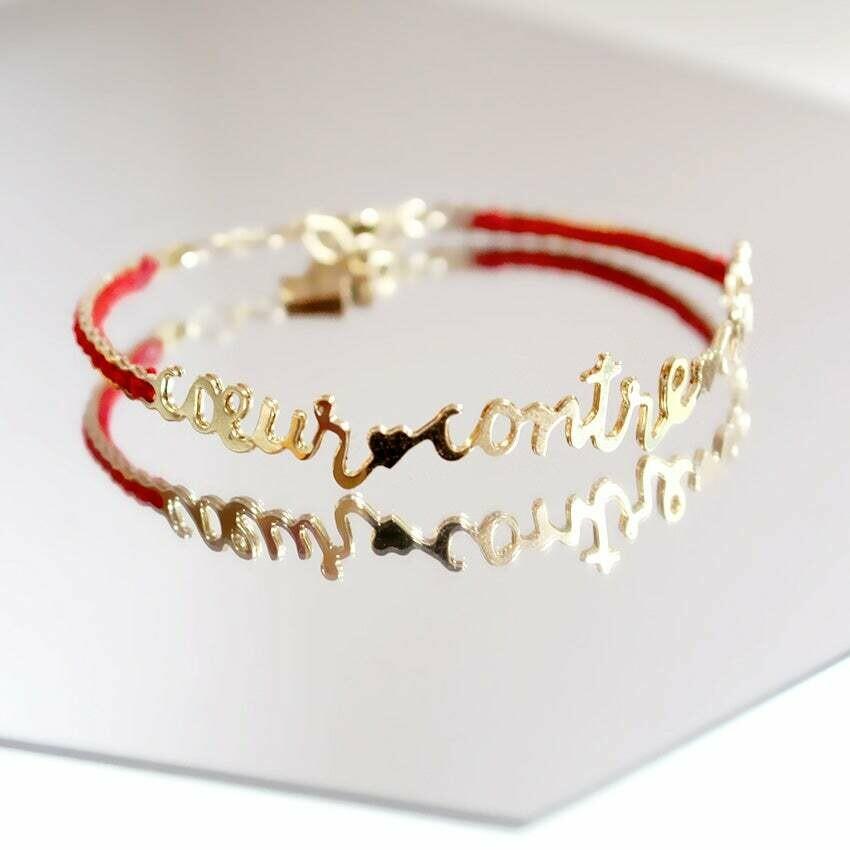 Bracelet Cœur contre Cœur Or