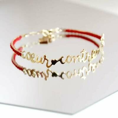 Bracelet Coeur contre Coeur Or