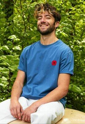 Tee Shirt Bleu roi UNISEXE Monsieur Coquelicot