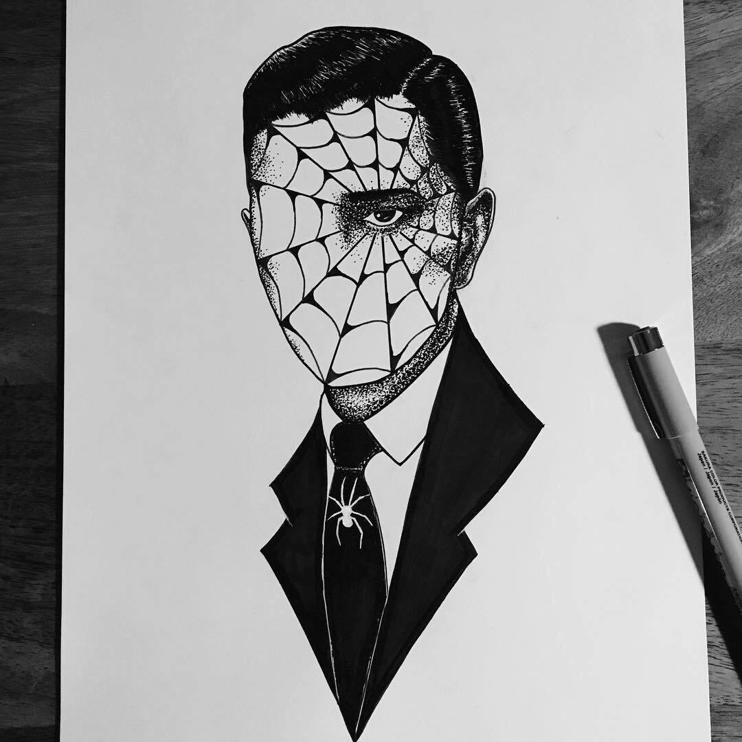 Print WEB MIND by The Artist Alex Kopteff