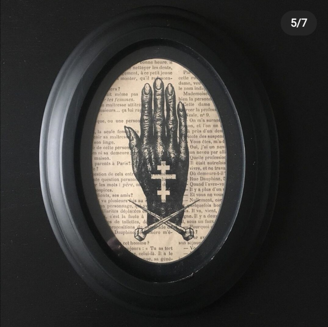 Print and Frame DARK HAND by The Artist Alex Kopteff RESTOCK SOON