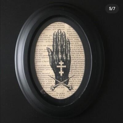 Print and Frame DARK HAND by The Artist Alex Kopteff RESTOCK SOON