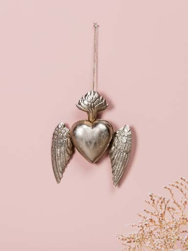 EX VOTO Coeur Sacré boite avec ailes