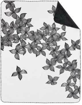 Couverture Plaid fleurs graphiques