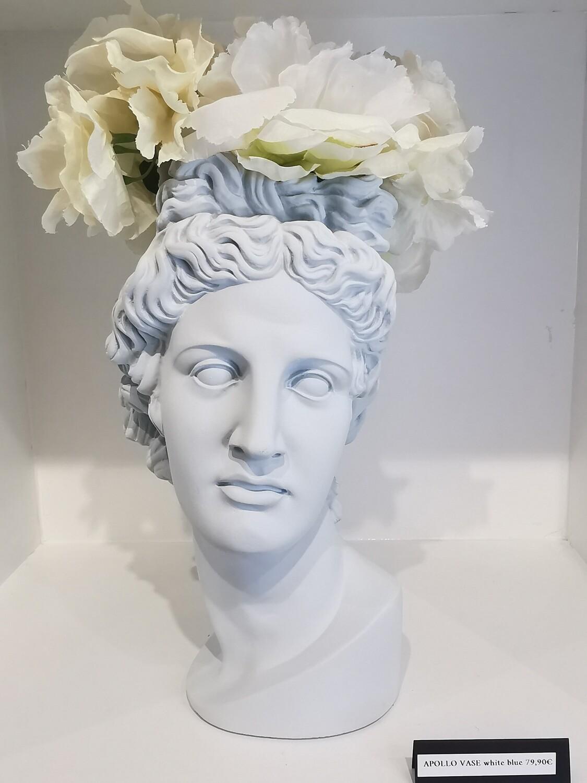 Apollo Vase col white blue