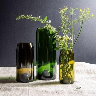 Vase Bouteille medium série RIRE marque Q de Bouteilles