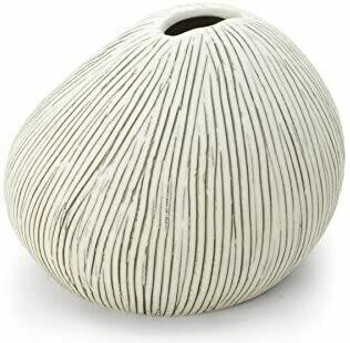 Vase ASTI small gris clair strié
