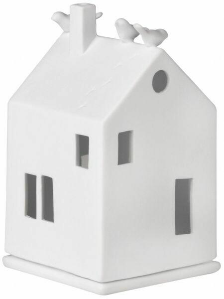 """Maison Photophore en Porcelaine """"Bird House"""""""