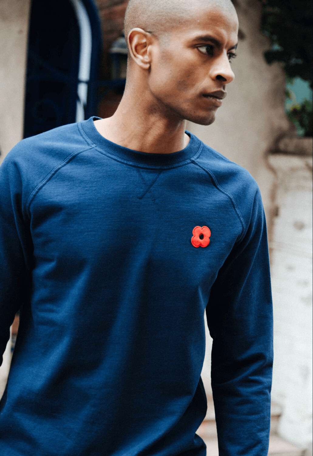Sweat Shirt Unisexe Navy Monsieur Coquelicot