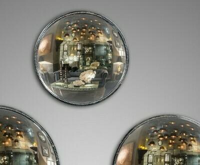 Miroir de Sorcière Antique perlé  Ø 30 cm