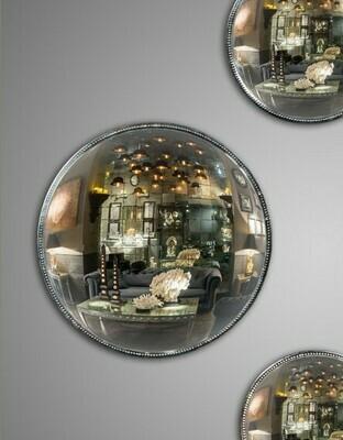Miroir de Sorcière Antique perlé  Ø 41 cm