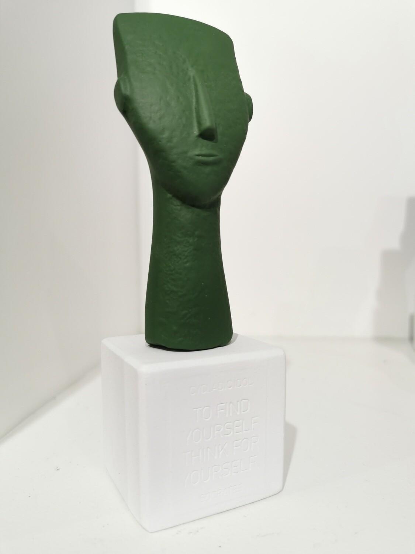 Cycladic Woman face col Fern
