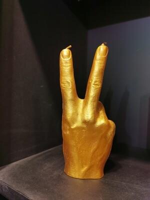 Bougie Main PEACE Gold Cuivré