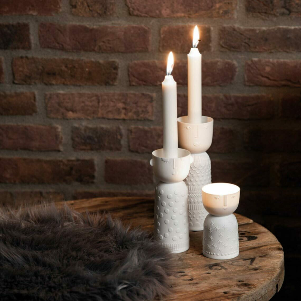 Bougeoir ou Vase en Porcelaine Lucia Tall