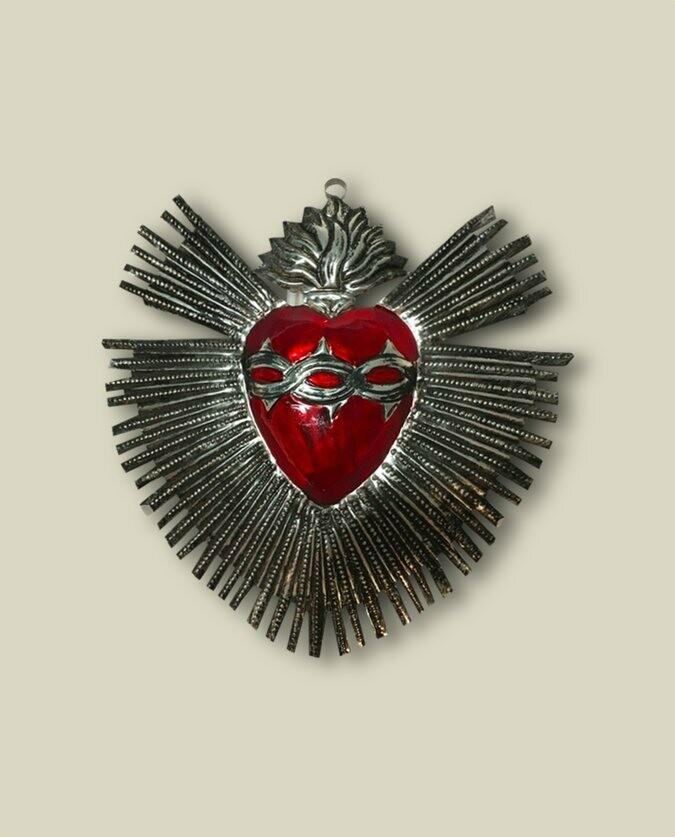 Ex Voto Milagros Rayons et coeur rouge