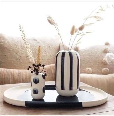 Cute Little Vase à pois bleus
