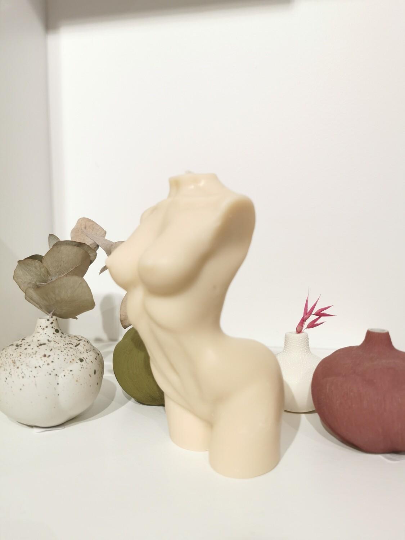 Bougie Statue Femme 15 cm coloris Nude