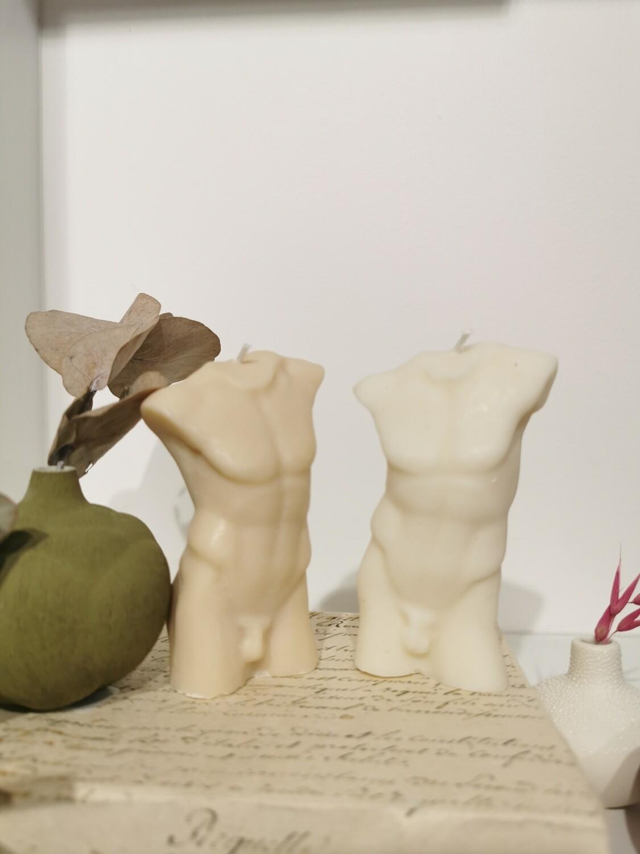 Bougie Statue Homme coloris ivoire 10 cm